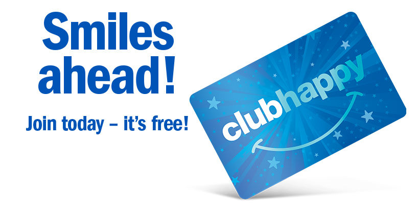 Join clubhappy today!