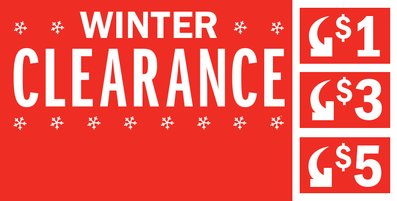 Don't Miss Our Clearance