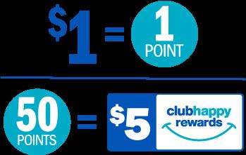 Clubhappy Ponts & Rewards